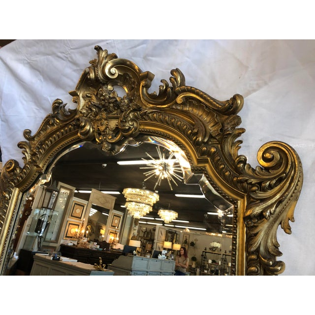 Gold 19th Century Antique French Louis XV Gilt Mirror For Sale - Image 8 of 10