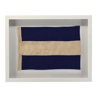"""""""J"""" Nautical Flag, Framed For Sale"""