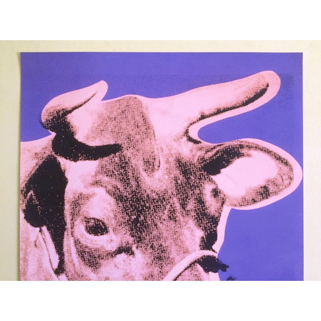 """This Andy Warhol Foundation offset lithograph print Pop Art poster """" Cow Pink & Purple """" 1976, is a very special and..."""