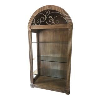 Vintage Solid Wood Shelving Unit For Sale