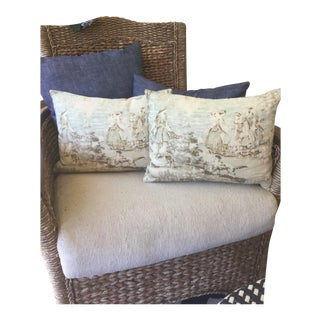 Down Fill Custom Made Pillow Covers - A Pair For Sale
