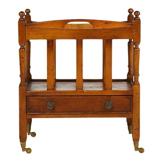 Early 20th Century English Sheraton Style Canterbury For Sale