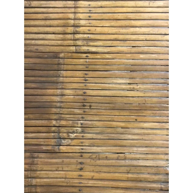 Boho Chic Bamboo Slated Bench For Sale - Image 3 of 9