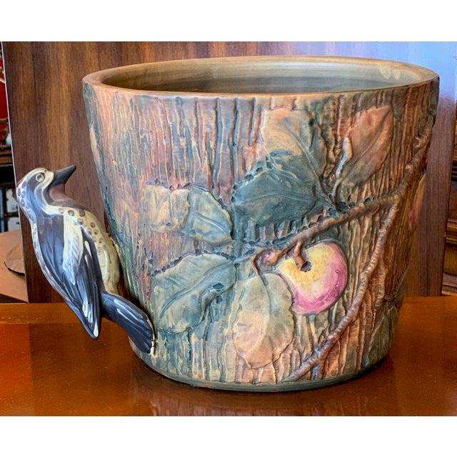 Weller Woodcraft Baldin Jardiniere With Woodpecker For Sale - Image 10 of 11