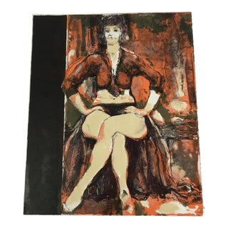 Mixed Media Painting of Woman Original Artist Proof For Sale