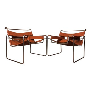 Vintage Marcel Breuer Wassily Lounge Chairs - A Pair