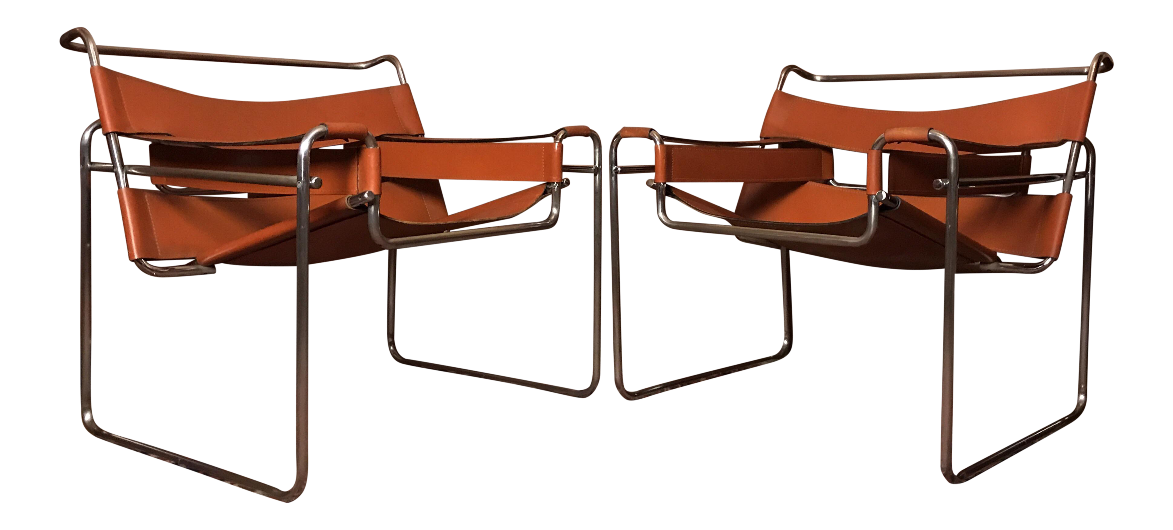 Vintage Marcel Breuer Wassily Lounge Chairs   A Pair