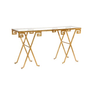 Contemporary Greek Key Console For Sale