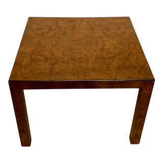 Large Scale Modern John Widdicomb Burlwood Table For Sale