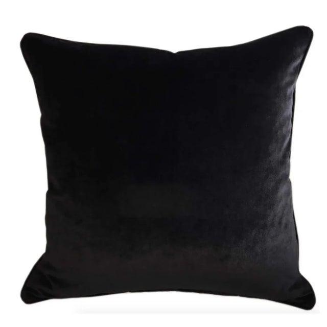 Brand new Silk Velvet Designer Tiger Accent Pillows - Set of 2 The back is a high end Black Velvet fabric Each pillow has...