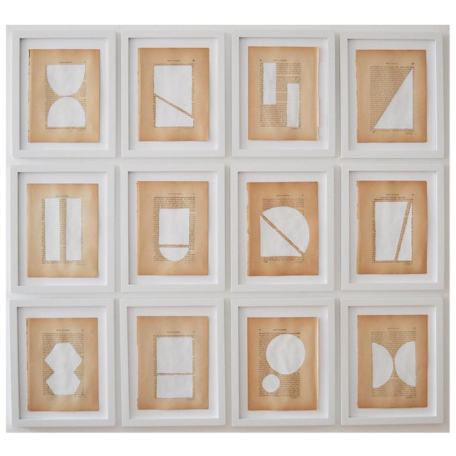 Josh Young Design House Blanc Géométrique Collection Paintings, 12 Pieces For Sale In Washington DC - Image 6 of 6
