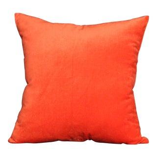Velvet Orange Pillow Cover For Sale
