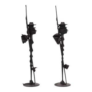 Pair of Albert Paley Candlesticks For Sale