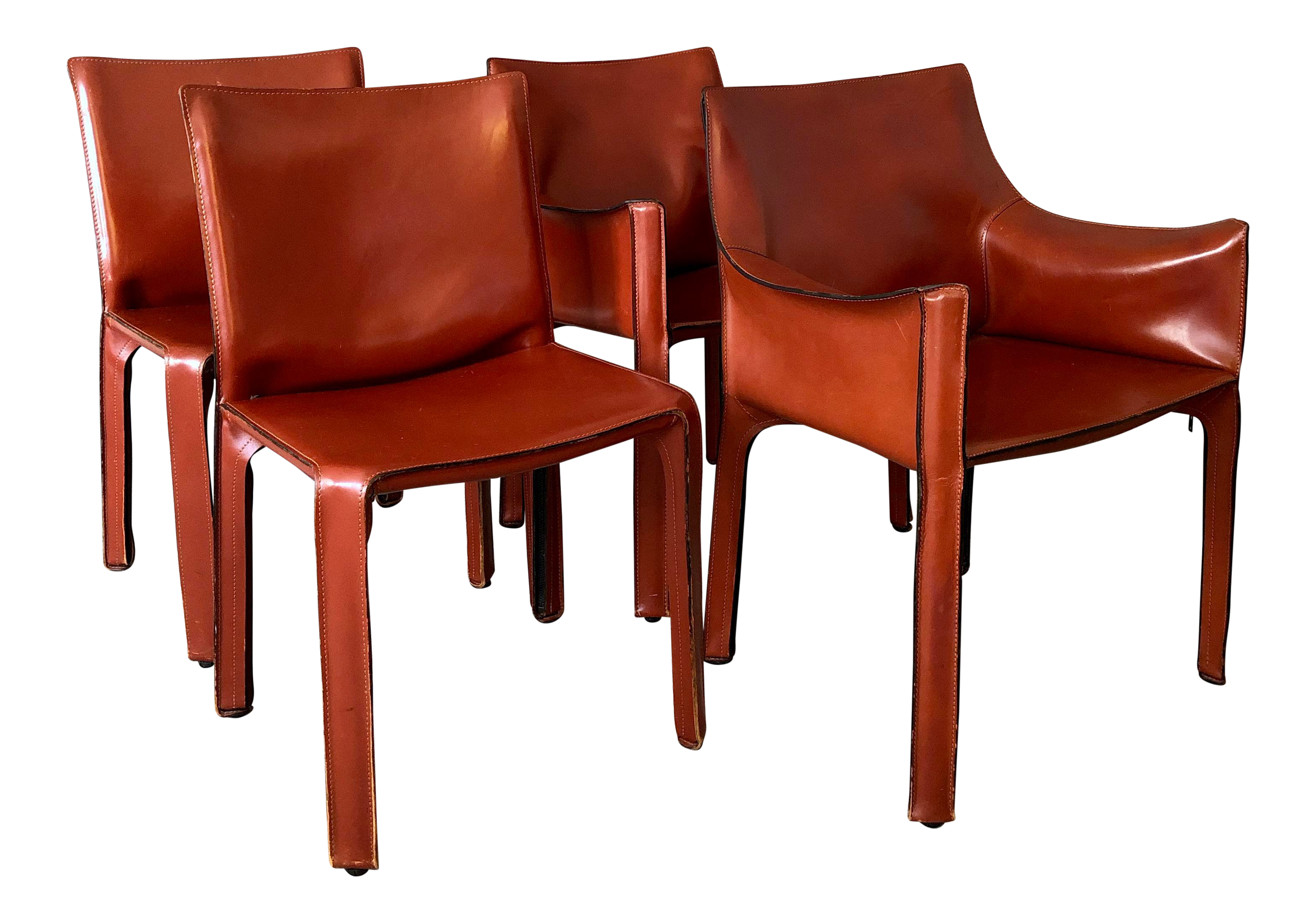 Fantastic 1980S Vintagemario Bellini For Cassina Cab Dining Chairs Set Of 4 Ibusinesslaw Wood Chair Design Ideas Ibusinesslaworg