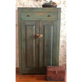 19th Century Green Cabinet Preview