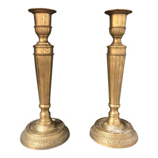 1960s Baldwin Brass Candle Holders - a Pair For Sale