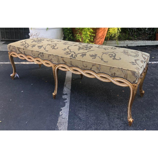 Regency Style Designer Ribbon Long Bench by Randy Esada Designs for Prospr