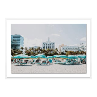 Miami III by Natalie Obradovich in White Framed Paper, Large Art Print For Sale