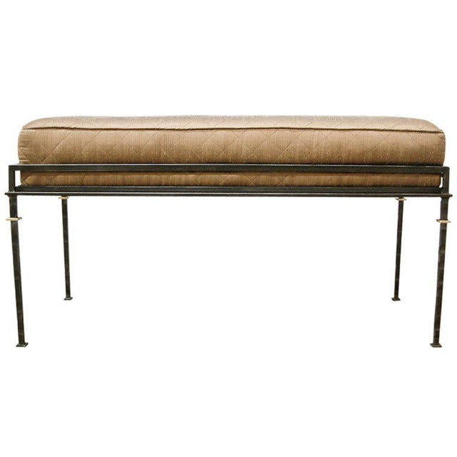 Black 1999 United States Maurice Beane French Bench For Sale - Image 8 of 8