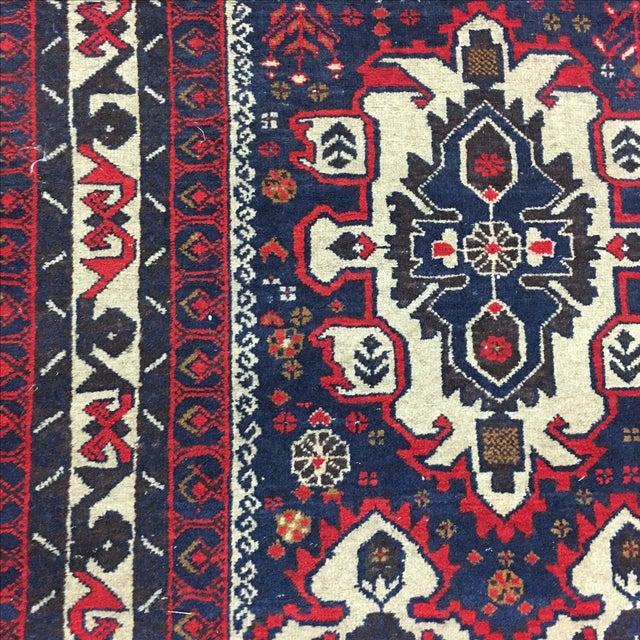 Hand Woven Afghan Rug - 3′11″ × 6′9″ - Image 5 of 6