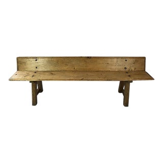 Spanish Pine Bench For Sale