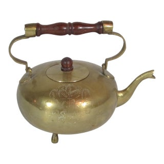 Solid Brass Tea Pot For Sale