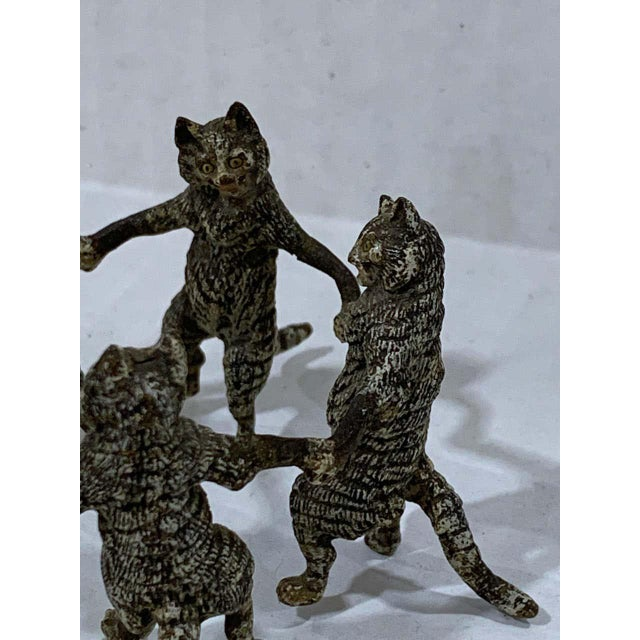 Vienna Cold Painted Bronze Dancing Cats, Attributed to Bergman For Sale In West Palm - Image 6 of 11