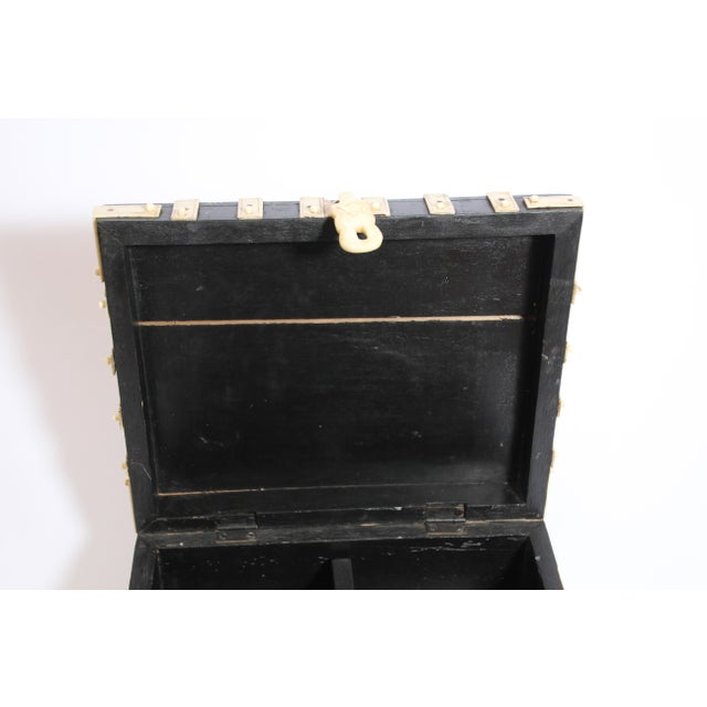 Large Decorative Anglo-Indian Vizagapatam Footed Box For Sale - Image 10 of 13