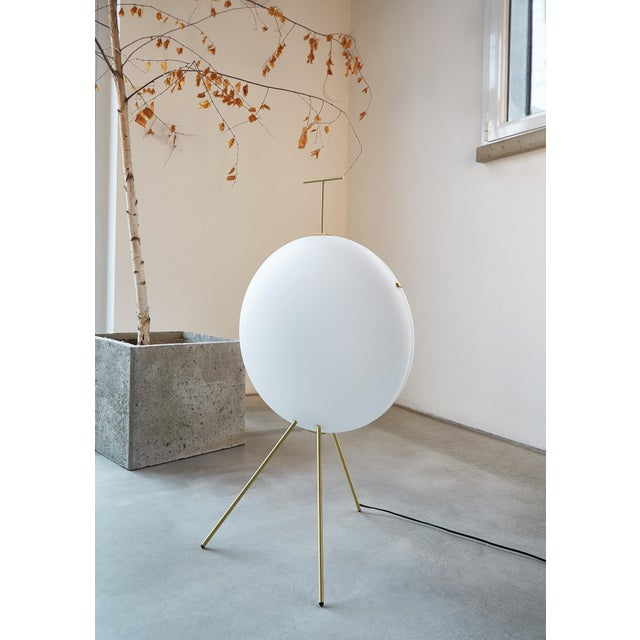 Mid-Century Modern Gio Ponti Luna Verticale Floor Lamp in Brass For Sale - Image 3 of 6