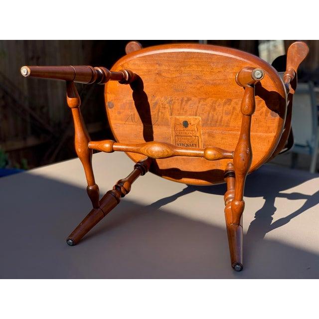 1950s Vintage Original Leopold Stickley Rockport Windsor Armchair For Sale - Image 11 of 13