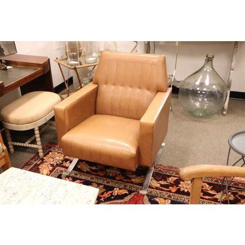 Fabulous vintage armchair from France, original vinyl upholstery in excellent condition, great mid-century design!