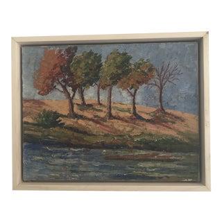 Vintage Impasto Landscape Painting For Sale