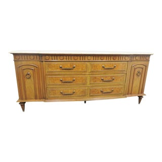 Mid Century Italian Style Travertine Top Sideboard/Dresser For Sale