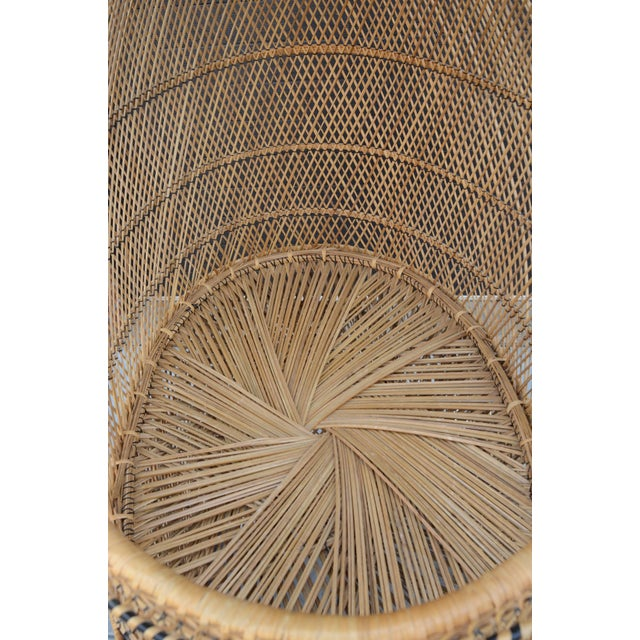 Wicker Vintage Woven Wicker Freestanding Bassinet For Sale - Image 7 of 9