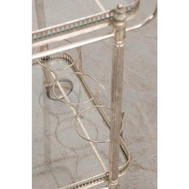 Silver French Vintage Silver Bar Cart For Sale - Image 8 of 13