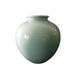 "Asian Celadon Moon Vase 6.25"" H For Sale"