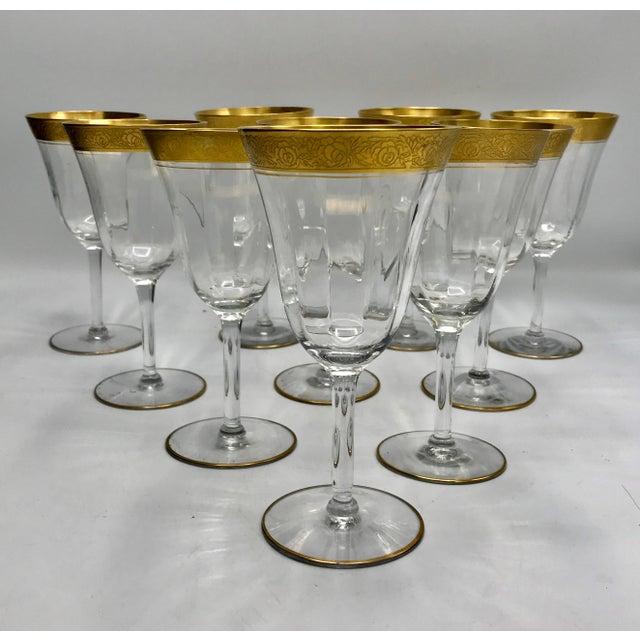 1930s Vintage Tiffin Franciscan Rambler Rose Crystal Stemware - Set of 26 For Sale In New York - Image 6 of 8