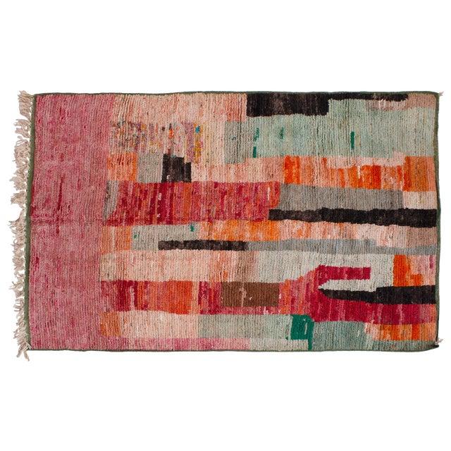 "Moroccan Berber Wool Rug- 7'11""x5'8"" For Sale"