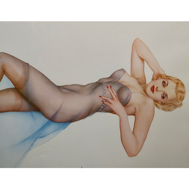 Alberto Vargas -Sweet Dreams-Beautiful Pin-Up Limited Edition Lithograph For Sale - Image 4 of 10