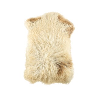 "Hand-Tanned Sheepskin Pelt Rug - 1'10""x3'0"" For Sale"