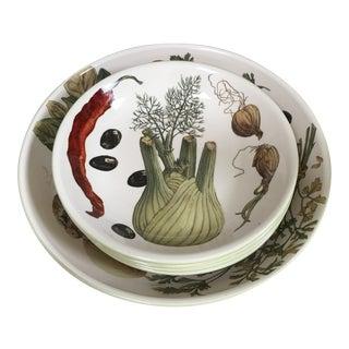 Williams Sonoma 'Vegetables & Herbs' Pasta Serving Bowls, Set of 5 For Sale