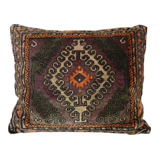 Vintage Moroccan Wool Accent Euro/Floor Pillow Cover