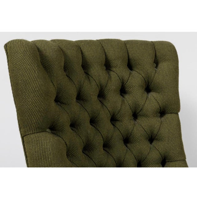 Danish Modern 1960's Vintage John Stuart Tufted High-Back Accent Chair- A Pair For Sale - Image 3 of 4