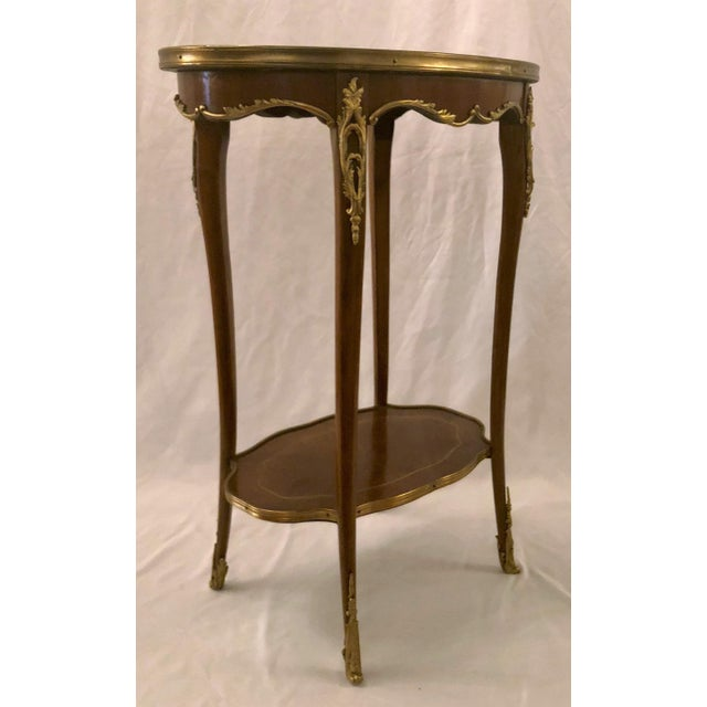Antique French Napoleon III Mahogany and Ormolu Occasional Table. For Sale - Image 4 of 5