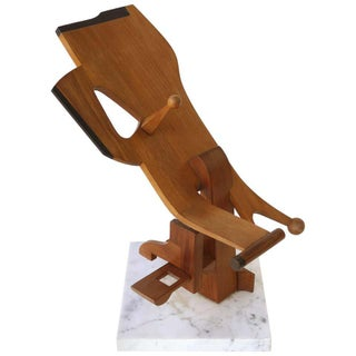 Abstract Brutalist Wood Sculpture, Manner of Leo Amino For Sale