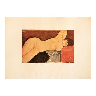 1947 Amedeo Modigliani, Original Parisian Nude Lithograph For Sale