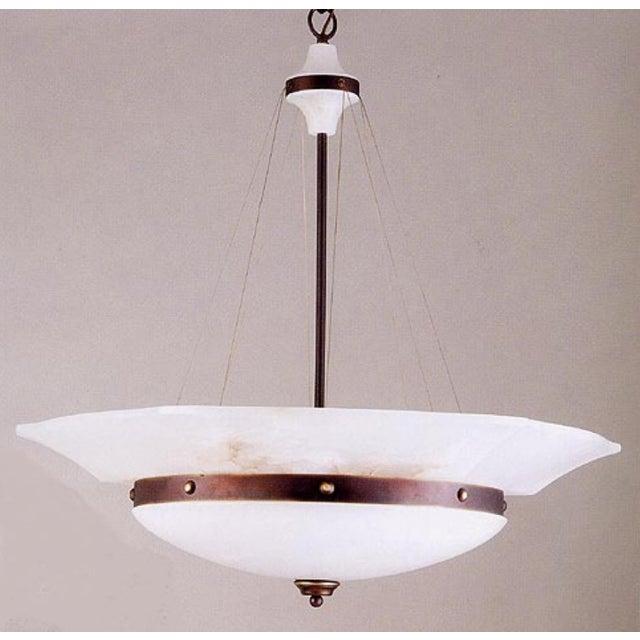 Myran Allen Luxury Lighting Modern White Alabaster Pendant Light For Sale In Atlanta - Image 6 of 6