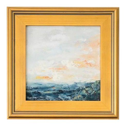 Encaustic Seascape Painting For Sale
