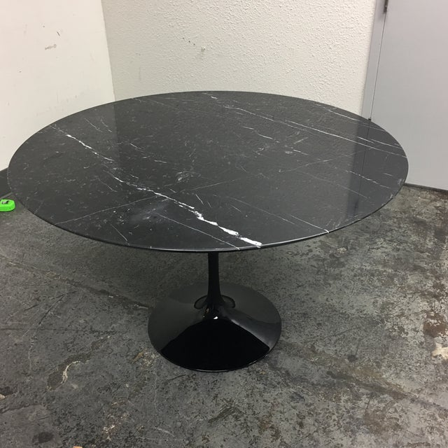Room Board Saarinen Nero Black Marble Table Chairish - Room and board saarinen table