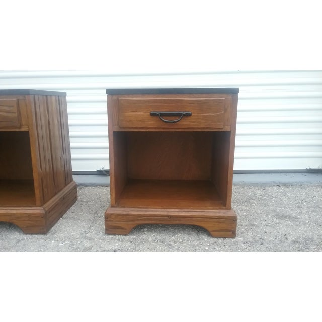 A. Brandt Ranch Oak Nightstands - A Pair - Image 9 of 11